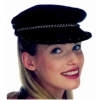 Black Leather Motorcycle Hat